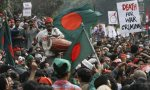 The Shahbag protesters resemble a jubilant flash-mob. Photograph: AFP/Getty Images